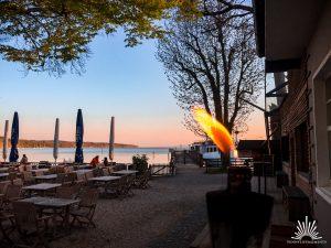 Eingangsbereich Restaurant Fischer Ammersee