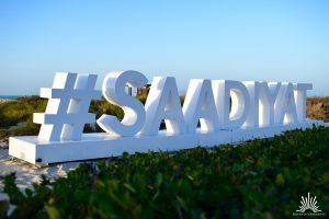 Hashtag Saadiyat in Abu Dhabi Beachclub