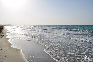 offenes Meer auf Saadiyat Island