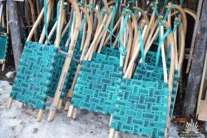 Schlitten der Kala Alm für die Rodelbahn