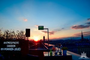 Blick über Wien zum Sonnenuntergang