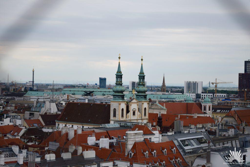 Ausblick über Wien vom Stephansdom