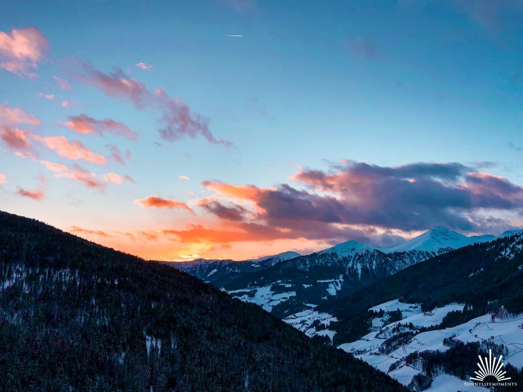 Sonnenuntergang Sarntal