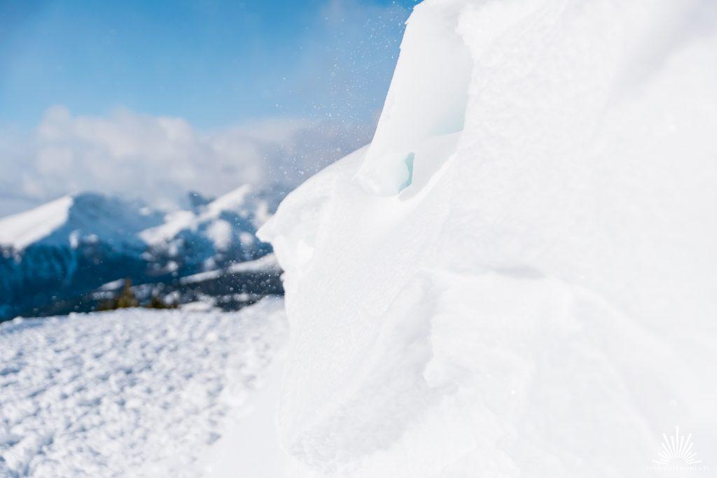 Schneeverwehung in Südtirol