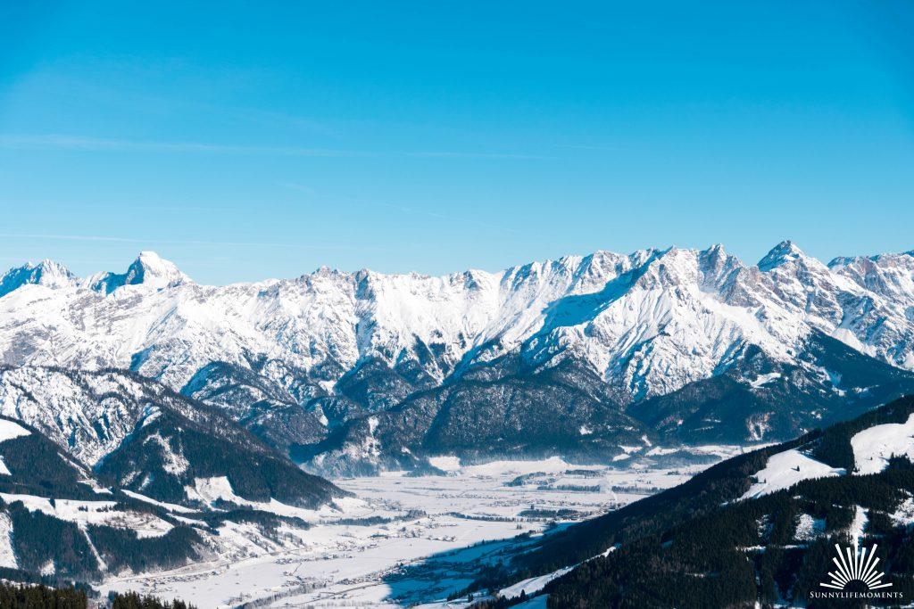 Ausblick Bergpanorama Leogang