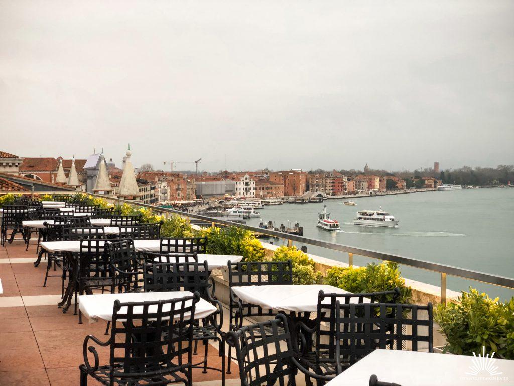 Dachterrasse in Venedig am Canal Grande