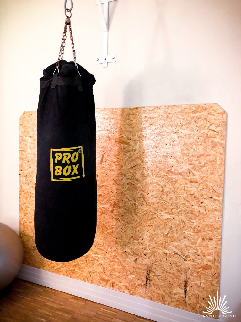 Boxsack im Fitnessstudio