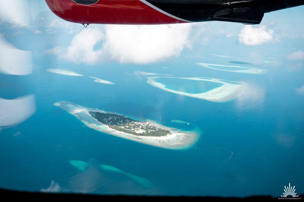 Atolle Wasserflugzeug