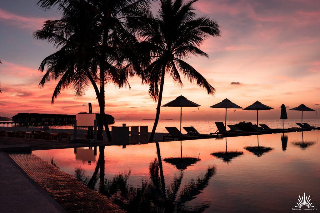 Sonnenuntergang Senses Infinity Pool