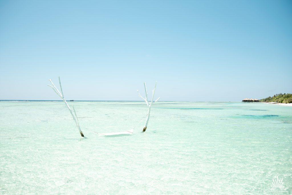 Hängematte in der blauen Lagune