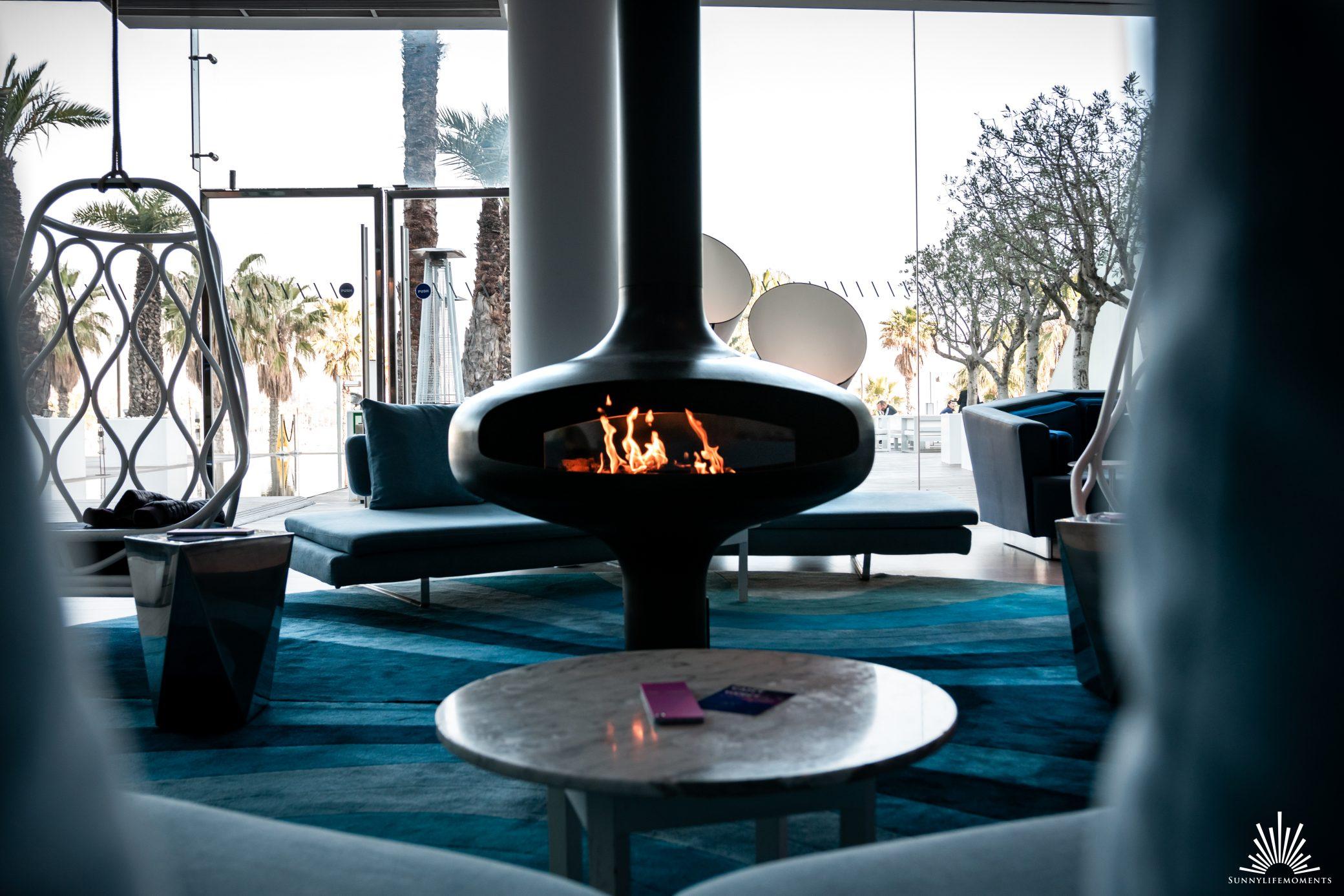 Fireplace W Hotel Barcelona