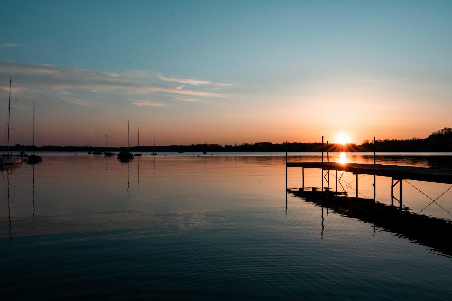 Sonnenuntergang Wörthsee