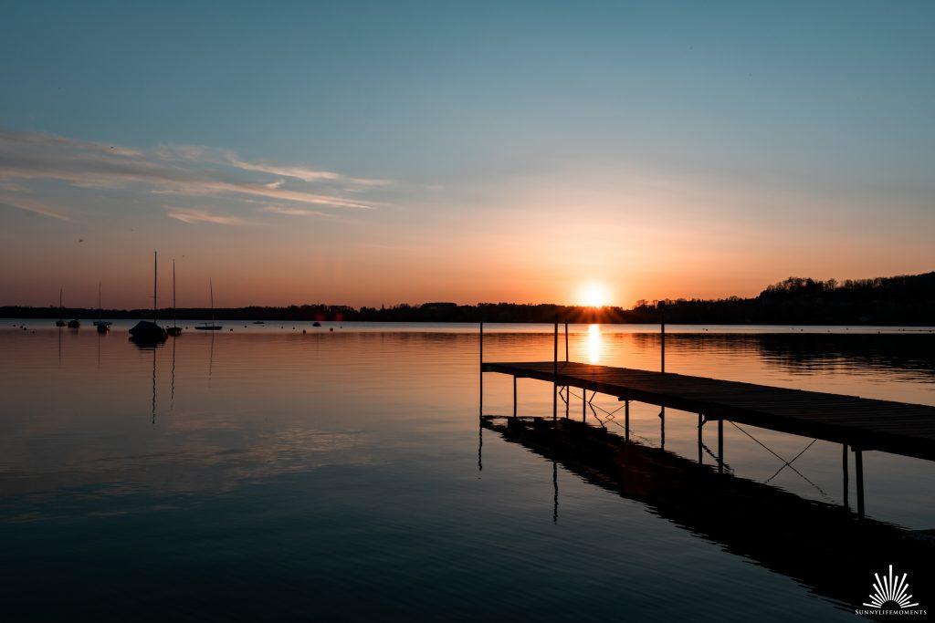 Sonnenuntergang Seehaus Raabe