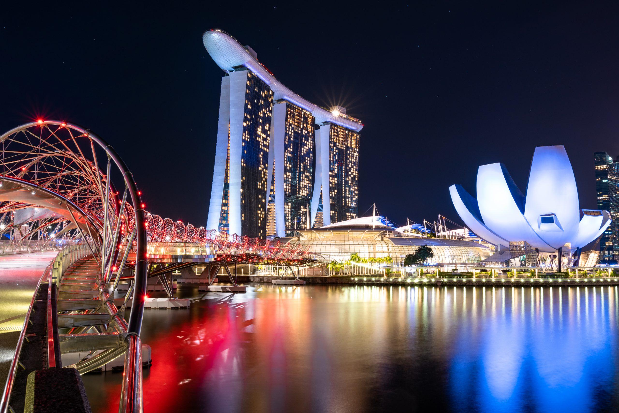 Singapur Nachtaufnahme